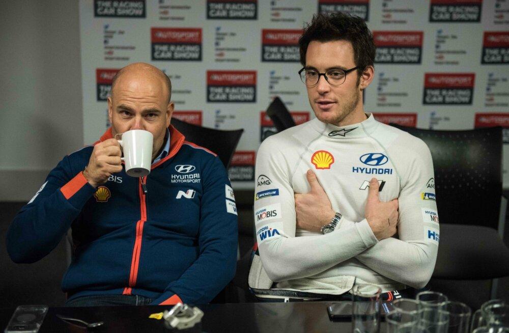 Andrea Adamo ja Thierry Neuville.