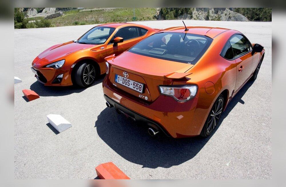 Toyota GT86 - 1998 cm3, 4 silindrit, tagavedu, 200 hj, 206 Nm, 6,5 l / 100 km, 181 g CO2/km, 0–100 km/h 7,6 s, 225 km/h, 1240 kg, ca 30 000 eurot