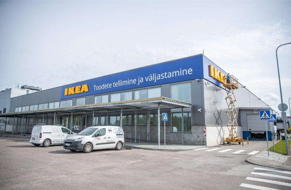 Eesti IKEA väljastuspunkt päev enne avamist