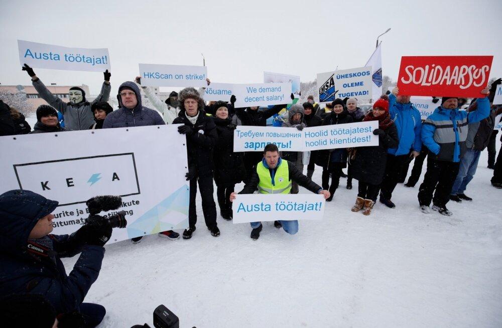 Rootsi ametiühingud toetavad Rakvere streikijaid: me ei aktsepteeri ähvardusi ja tööandjapoolset survestamist!