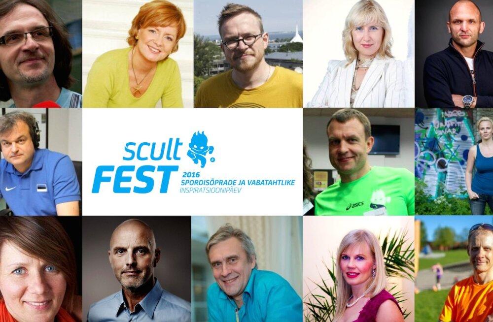 Inspiratsioonipäeval Scult Fest arutavad sporditeemadel ka Marko Kaljuveer, Allar Levandi ja Jüri Muttika