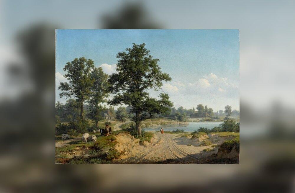 Baltisaksa kunstniku Eugen Gustav Dückeri maali järgi võiks arvata, et aastal 1860 Saaremaal tammedest puudust ei olnud.