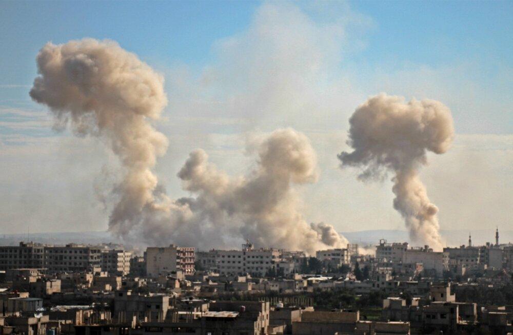 Damaskuse eeslinnas hukkus valitsusvägede rünnakus vähemalt 98 inimest