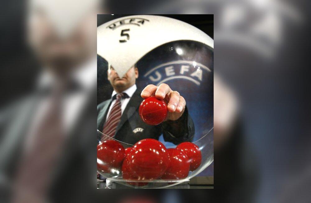 Euroopa Jalgpalliliit UEFA teostab loosimist