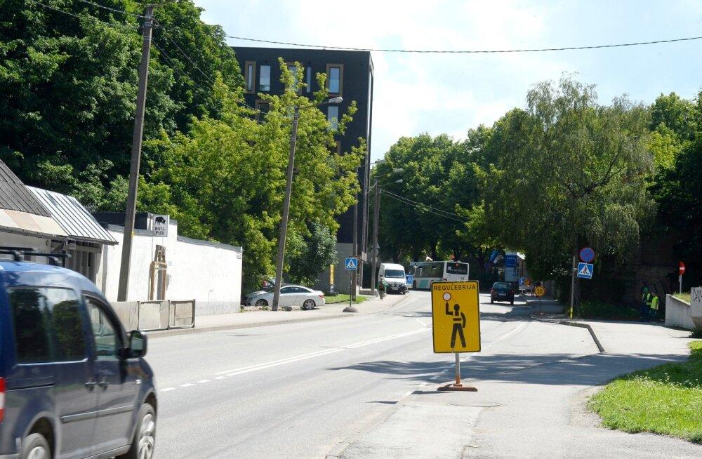 Завершается ремонт улицы Юхкентали в Таллинне