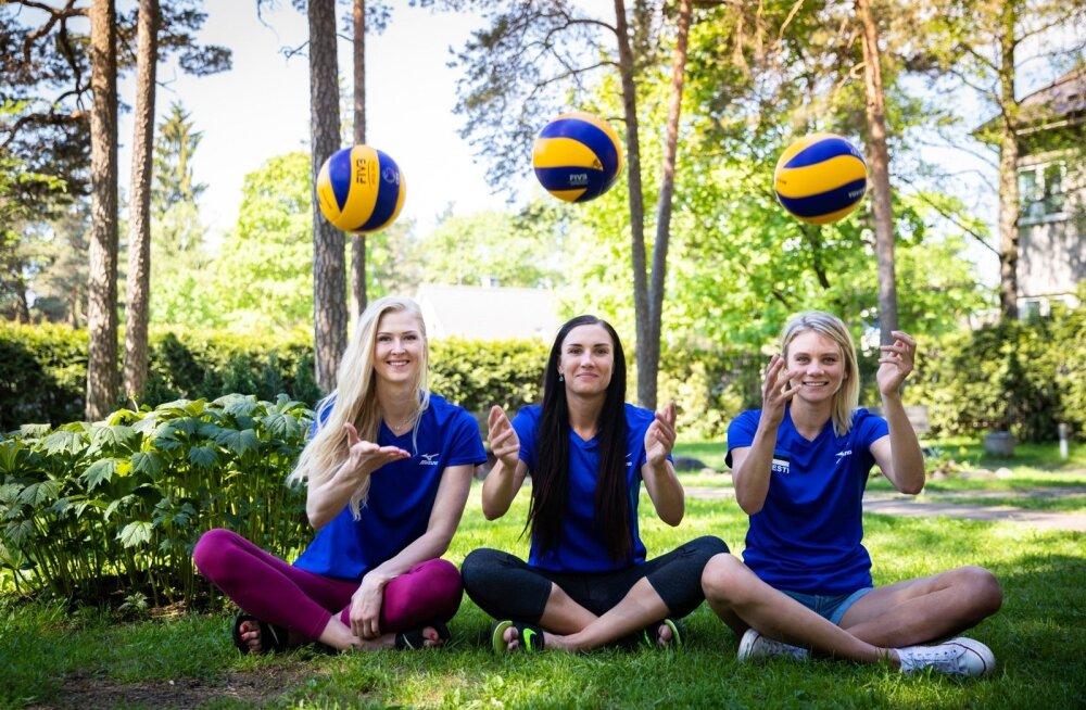 Liis Kullerkann, Anu Ennok ja Julija Mõnnakmäe teavad, et võrkpallis saadud kogemued ja karastus tuleb kasuks ka hilisemas elus.
