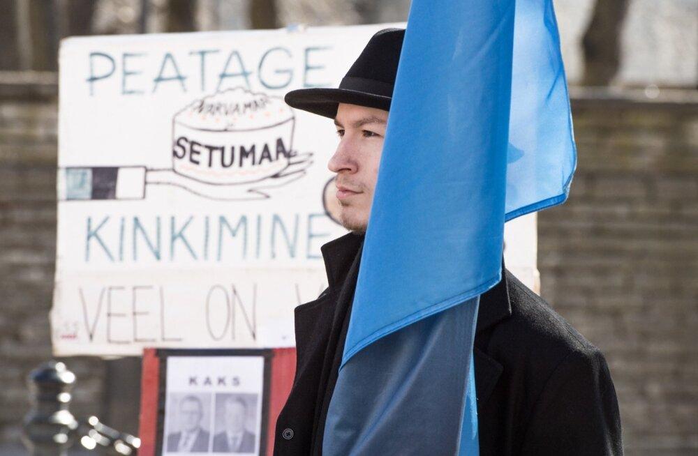 Pikett Toompeal. Vastumeelsuse näitamine ratifitseeritavale Eesti Vabariigi ja Venemaa Föderatsiooni vahelisele piirilepingule