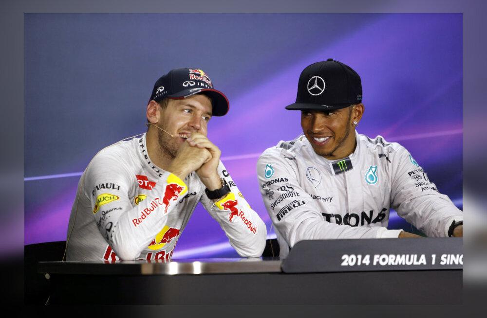 Vettel ja Hamilton