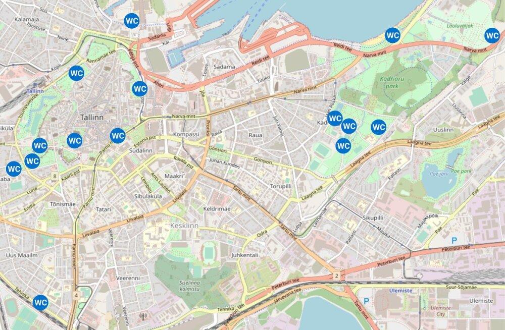 KAART | Tallinna kesklinn saab suveks mitukümmend kemmergut