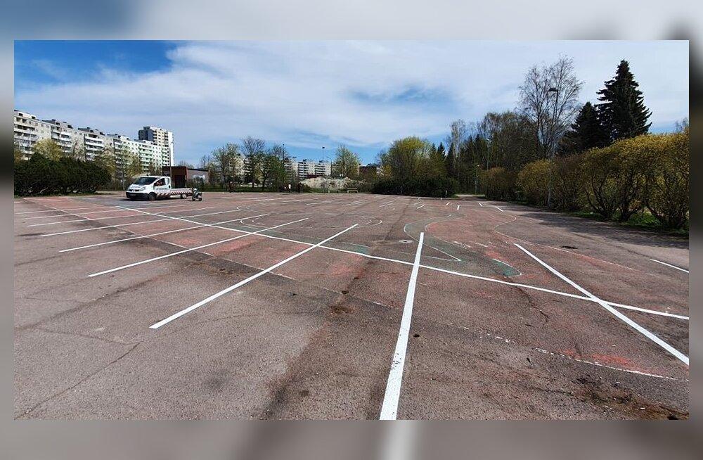Haabersti vananenud liiklusväljaku asemele rajatakse kaasaegne spordiväljak