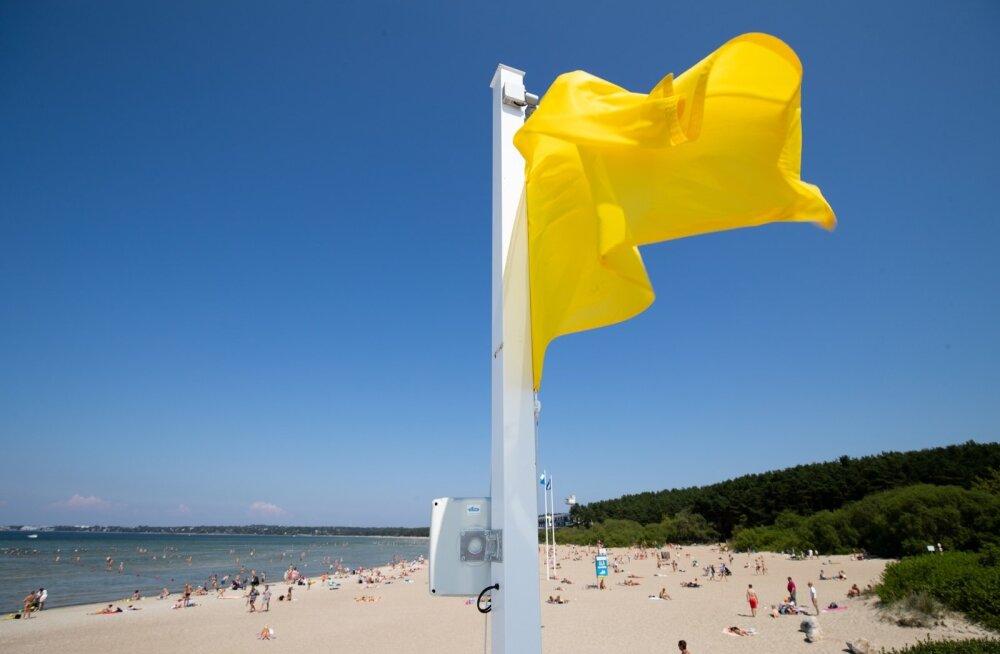 Suurest soojast hoolimata oli täna hommikul osades Eesti randades temperatuur alla 15 kraadi
