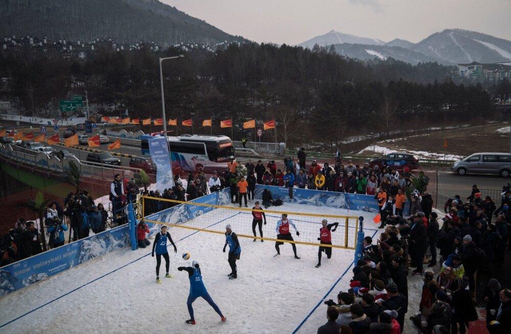 Lumevõrkpall kogus Pyeongchangis lõpuks kokku ligemale paarsada huvilist