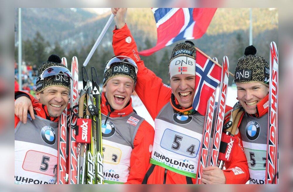 Norra teatevõistkond Ruhpoldingu laskesuusatamise MM-il