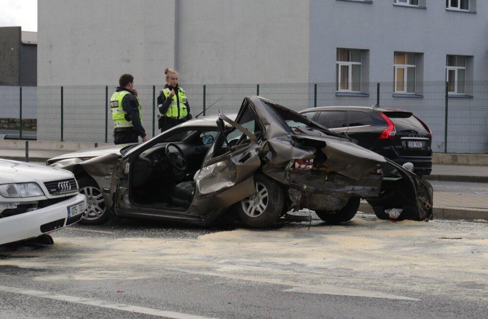 Liiklusõnnetus Tallinnas Peterburi teel