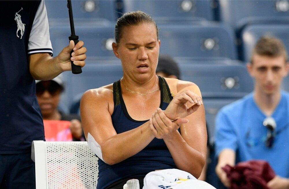 Kaia Kanepi US Openi 3. ringi kohtumises