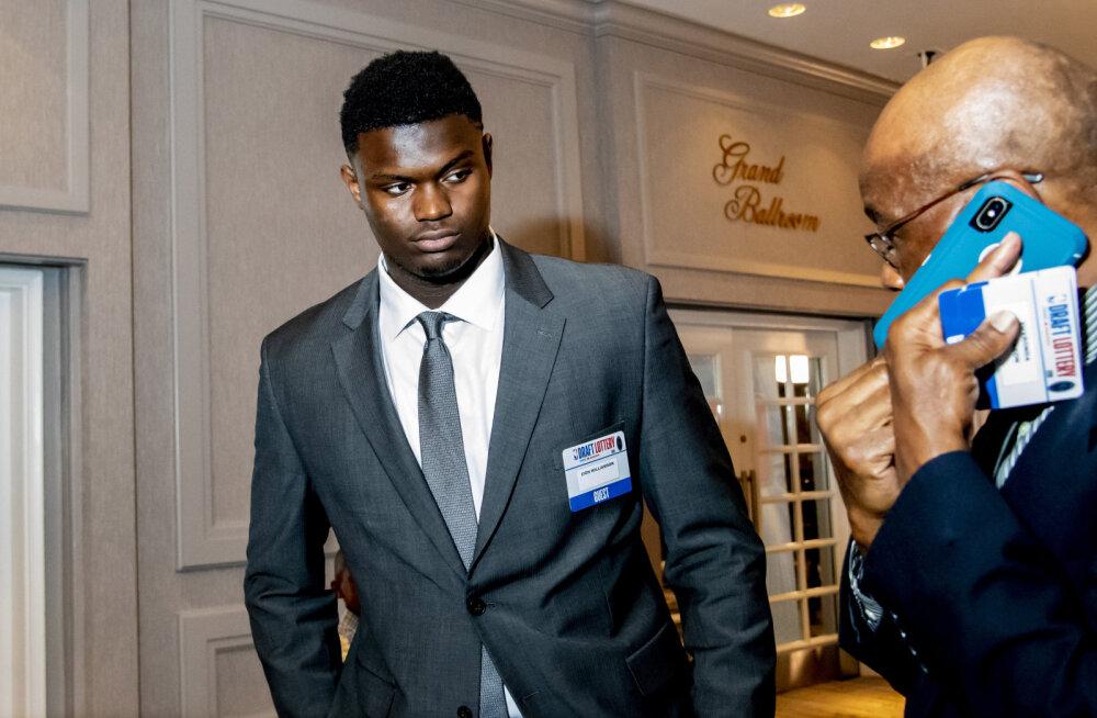 NBA draftiloterii andis põneva tulemuse. Kus maandub suurlootus Zion Williamson?