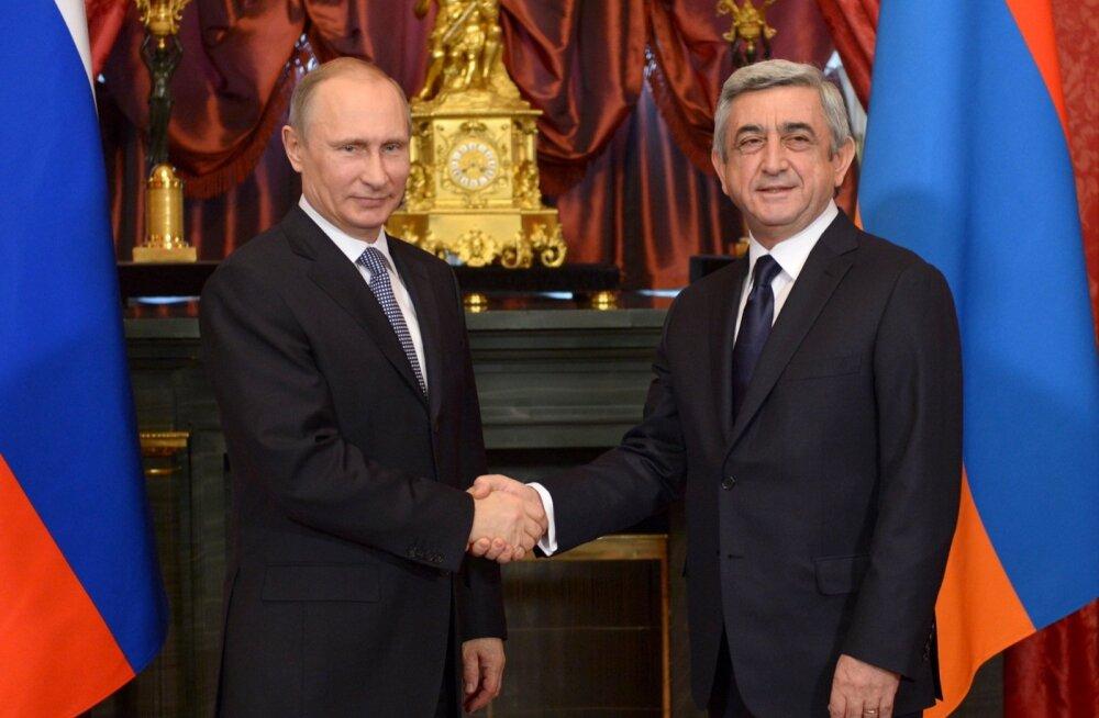 Kreml: Putin rääkis telefoni teel Armeenia presidendiga