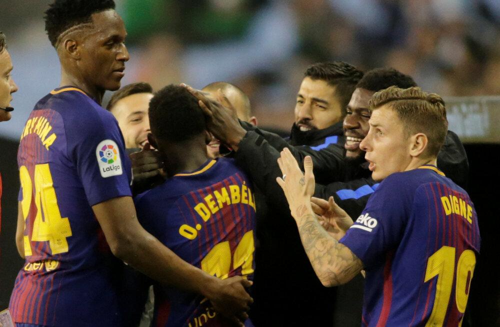 Barcelona tähistab Ousmane Dembele väravat