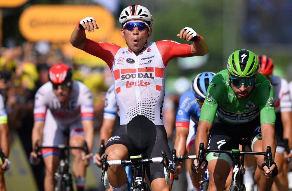 VIDEO | Tour de France'i liider Alaphilippe säilitas jälitajate ees edu, Kangert ja Taaramäe parandasid üldkohta