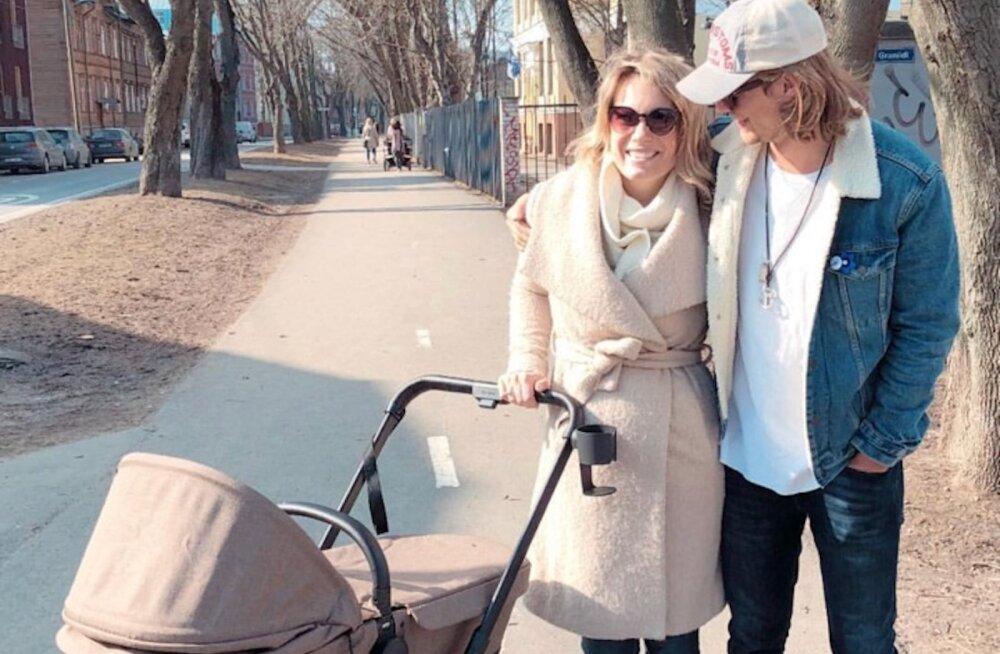 NUNNU KLÕPS | Ilus ilm kutsub õue! Daniel Levi viis tütre esimesele jalutuskäigule