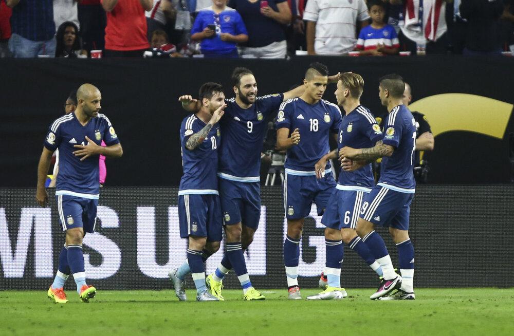 VIDEO: USA-le neli vastuseta väravat löönud Argentiina liikus kindlalt finaali