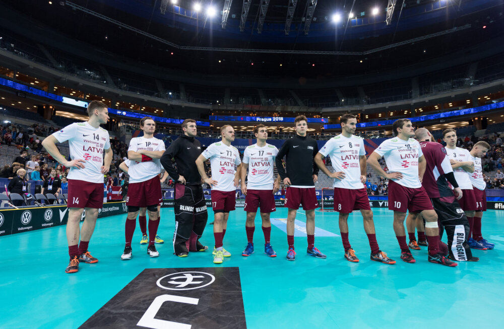 Pettunud Läti saalihokikoondis pärast Saksamaalt saadud 4:5 kaotust