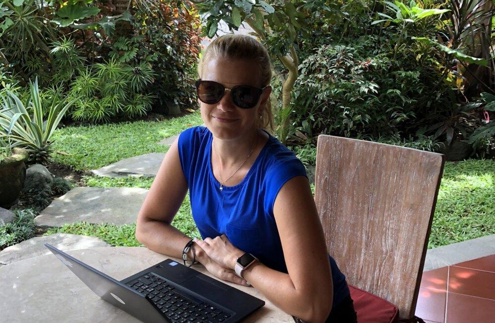 Eestlanna kaugtöökontoris Balil: ole ettevaatlik, millest sa unistad, sest planeeritud tegevuste järel võivad need täide minna
