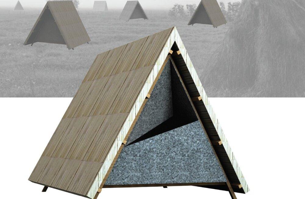 Rõuk on traditsioonilise heinarõugu konstruktsioonist inspireeritud hüpikhotell. Magamisruum on valmistatud vildist, rõuku katab roomatt. See hotell on kaheosaline ja koosneb magamisasemest ja avatud eesruumist. Autorid: Pertti Pleer, Artur Leete ja Marti