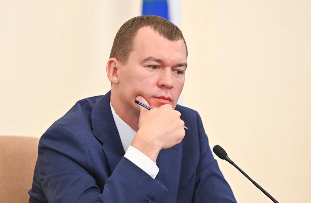 Kuberneri kohusetäitja Degtjarjov: Habarovski meeleavaldajatelt võeti ära kirves ja nuge