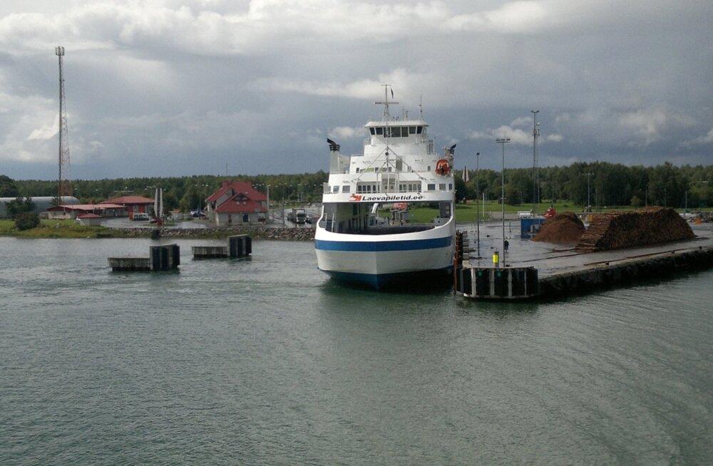 Heltermaa sadam Hiiumaal.