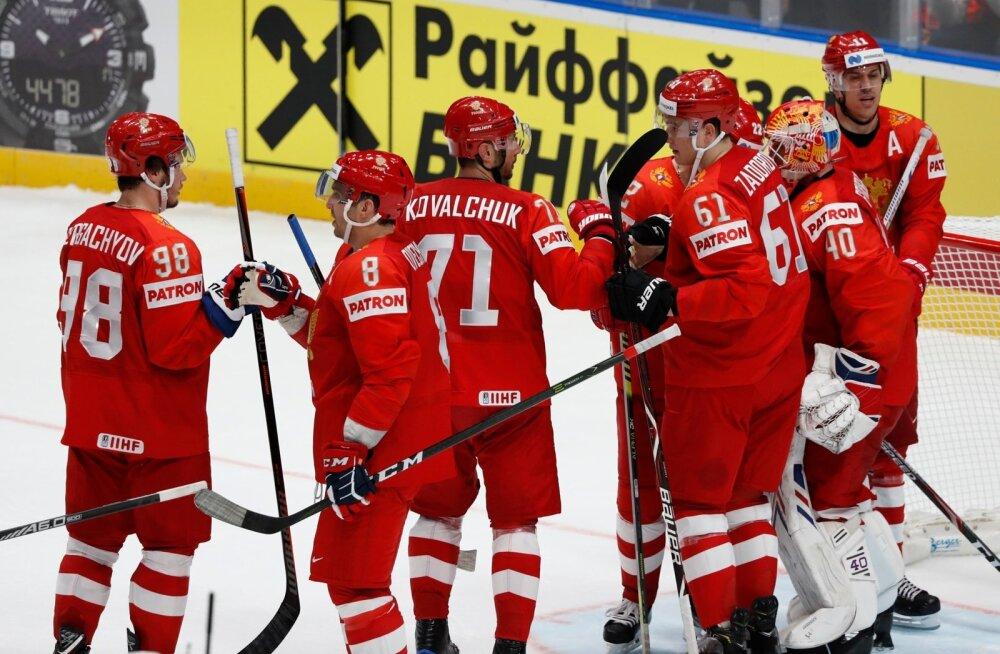 Venemaa hokimehed on teeninud MM-il kahest mängust kaks võitu.