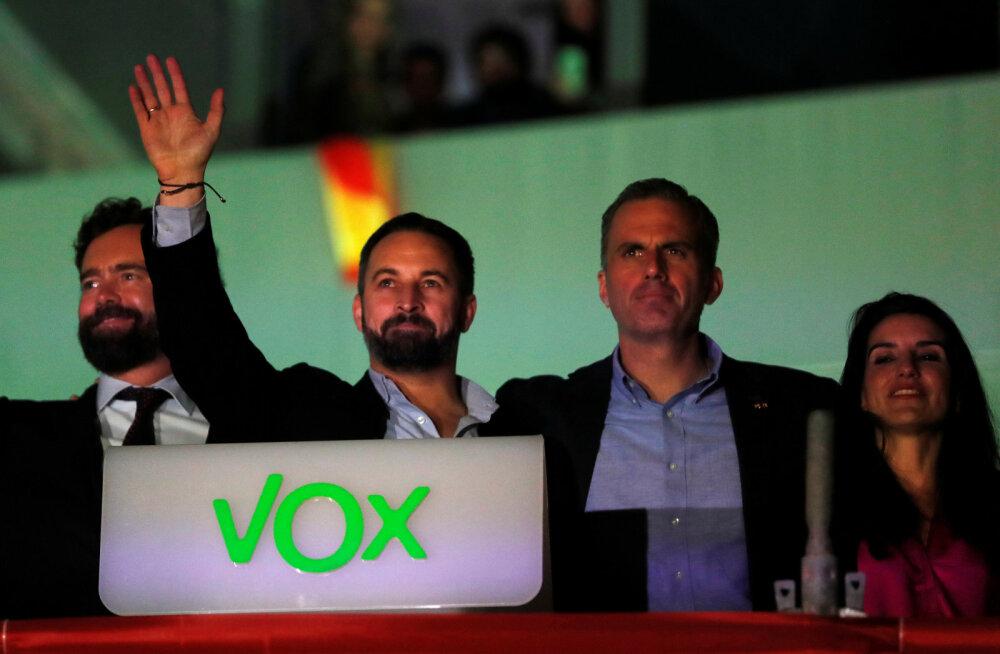 Hispaania valimised võitsid sotsialistid, aga paremäärmuslased enam kui kahekordistasid parlamendikohtade arvu
