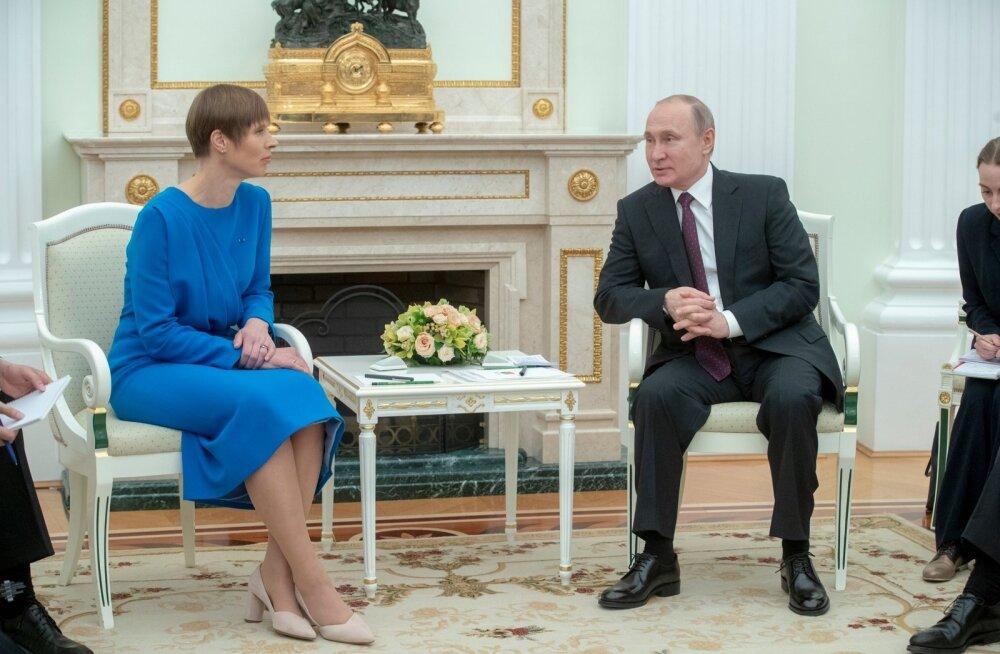 President Kaljulaid saatis Putinile kutse tulla Eestisse
