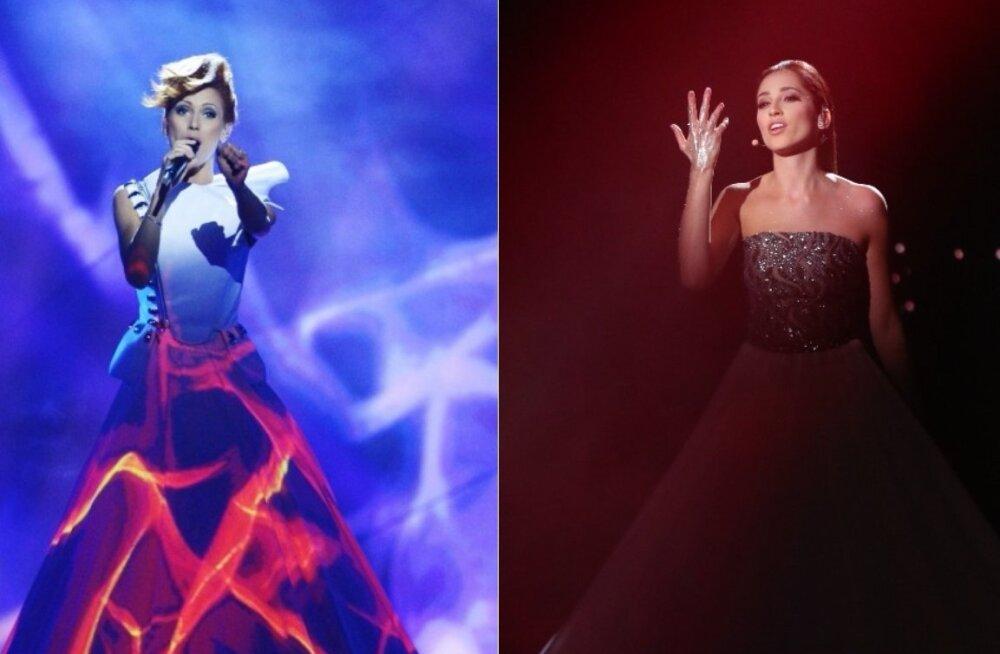 NAGU KAKS TILKA VETT: Elina Nechayeva sai Eesti Laulu lavakostüümi jaoks inspiratsiooni Moldova eurolaulikult?