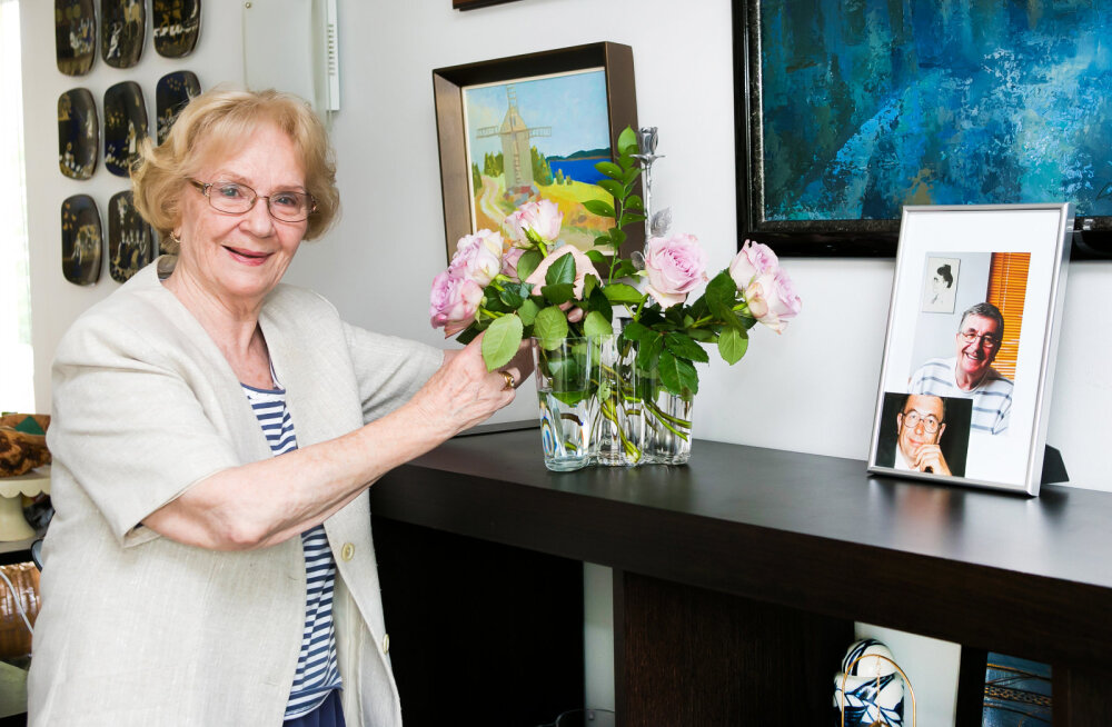 Ruth koos Reinu fotoga.