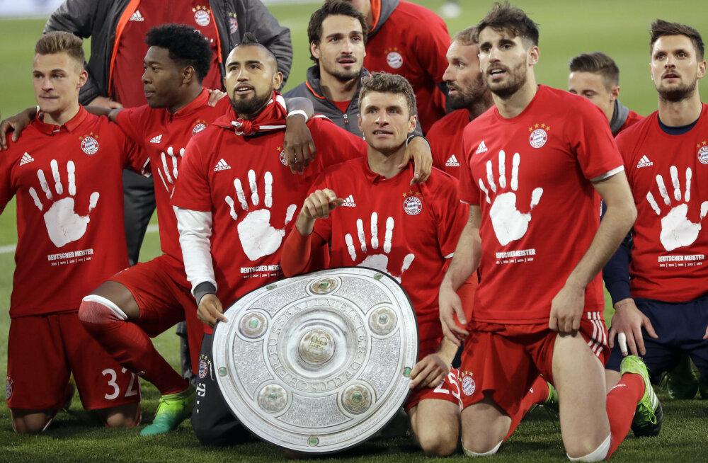 Müncheni Bayern kindlustas viienda järjestikuse Saksa meistritiitli