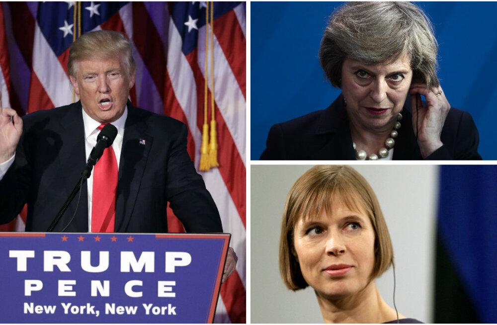 HEA NALI! Donald Trump küsis Briti peaministrilt Theresa May'lt Kersti Kaljulaidi telefoninumbrit