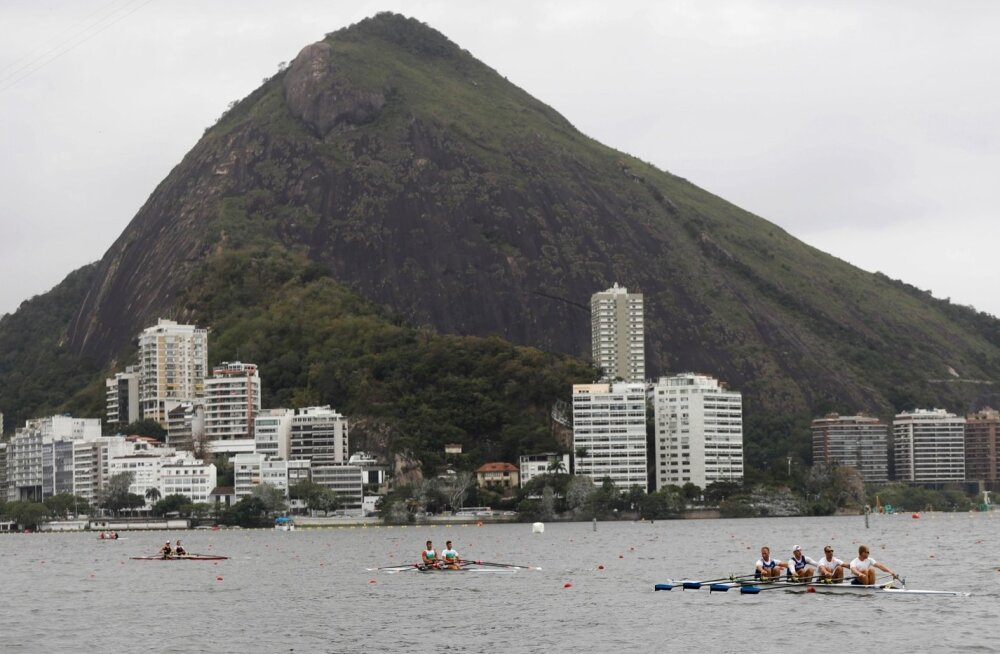 Sõudjad teevad Rio de Janeiros juba trenni.