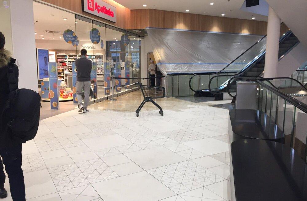 FOTO ja VIDEO | Tallinna Solarise keskuses tekkis rikke tõttu uputus