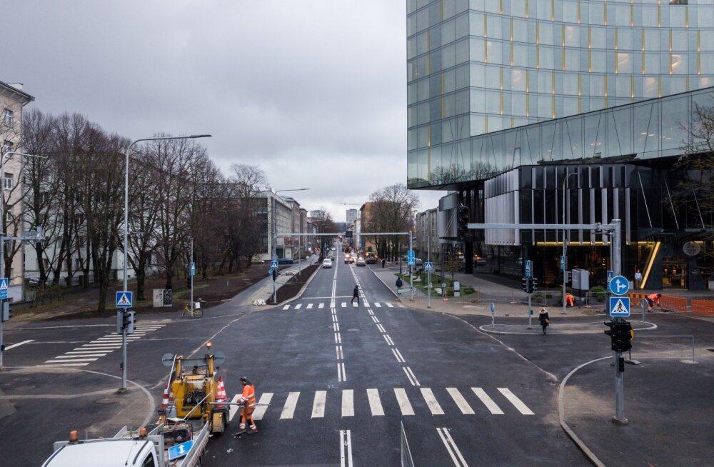 Vastremonditud Gonsiori tänav droonifotod
