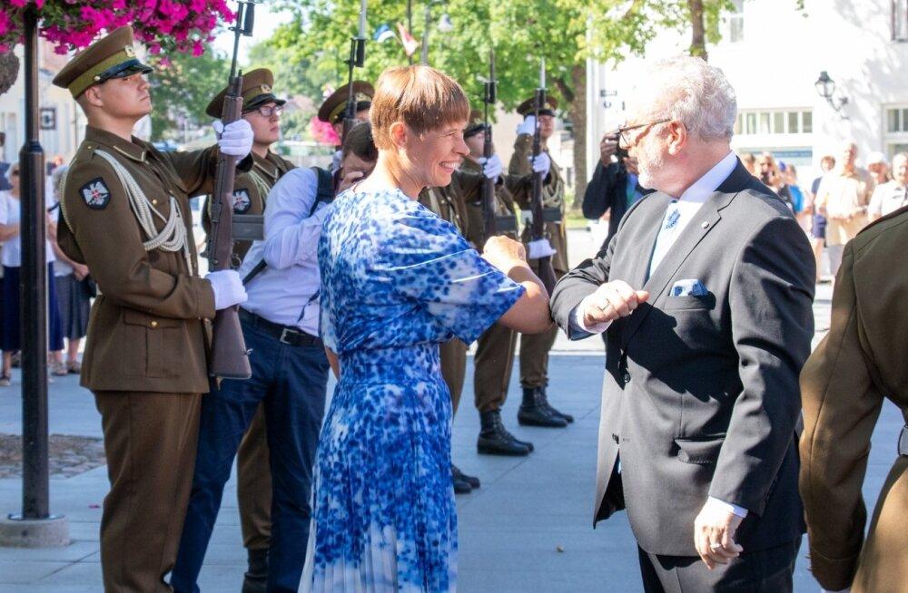 President Kaljulaid ja Läti president Egils Levits kohtusid sel nädalal Kuressaares. Leedu president Gitanas Nauseda jättis viimasel minutil tulemata.
