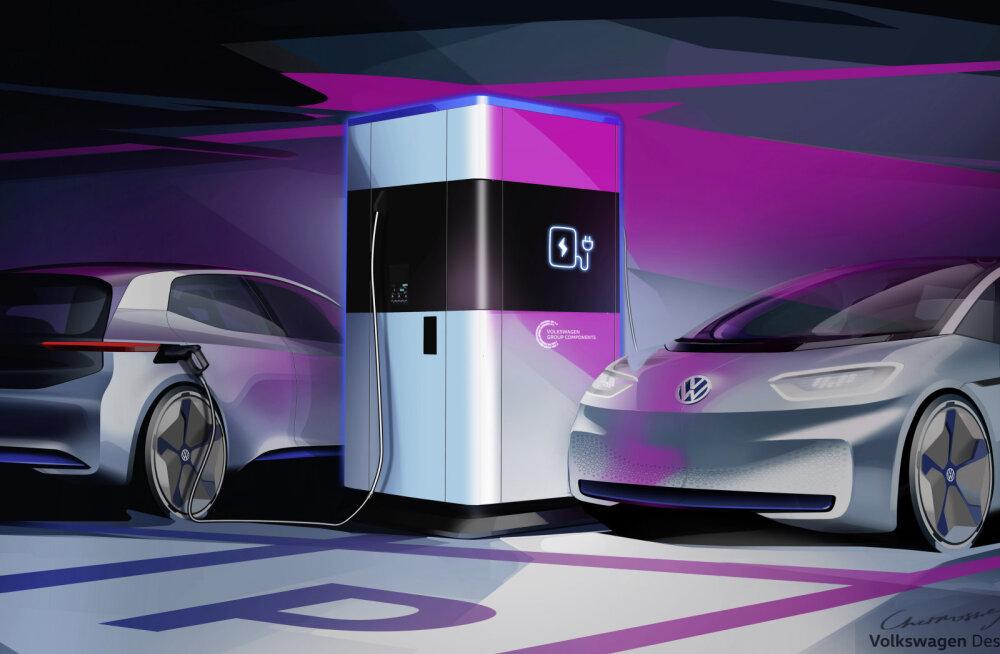 Volkswageni lahendus elektriautode laadimise probleemile: ringi reisivad laadimisputkad