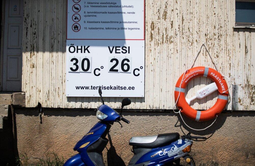 ФОТО и ОНЛАЙН-БЛОГ   Полные пляжи и плавящийся асфальт: в Эстонию пришла настоящая жара!