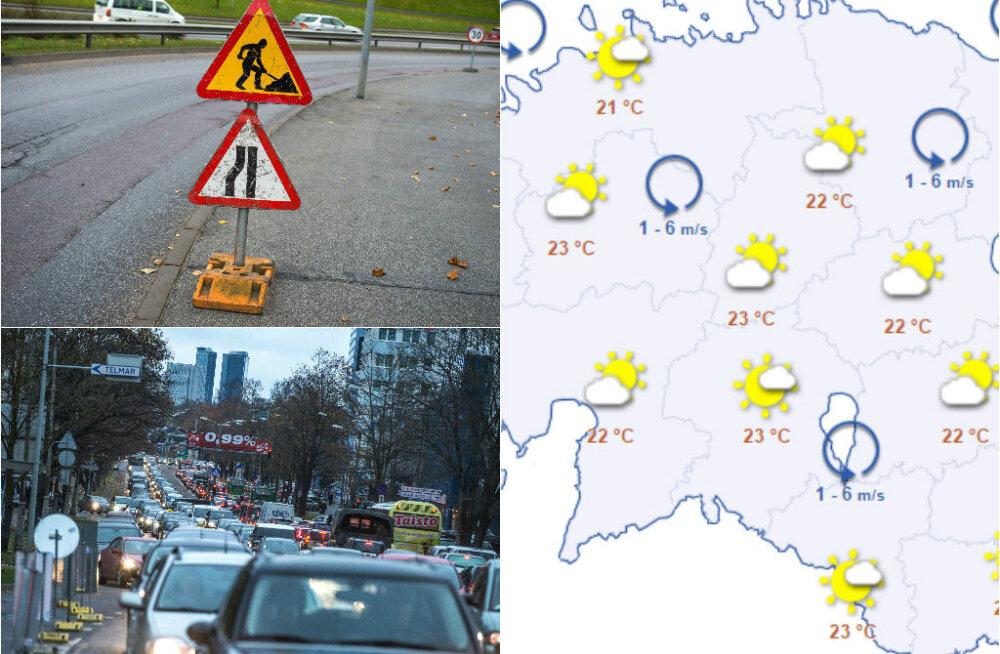 HOMMIKU-UUDISED: suleti Pärnu maanteelt Tammsaare teele suunduv sõidutee, alanud nädal toob 25-kraadise sooja