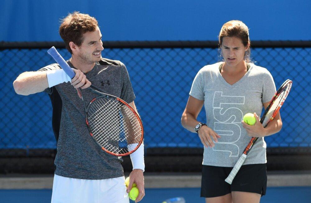 Andy Murray ja Amelie Mauresmo tänavusel Australian Openil
