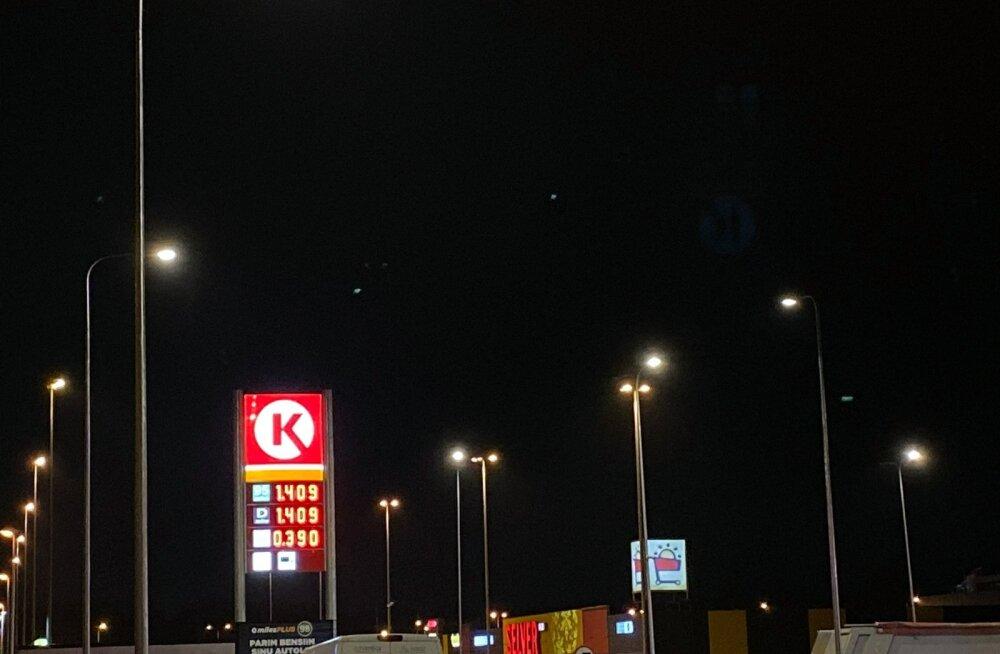 Circle K tankla Tallinna külje all Peetris.