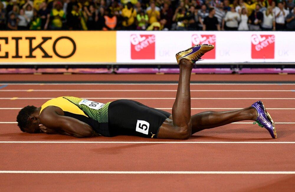 Usain Bolt on rajale varisenud. Hiilgava karjääri kurb lõpp.