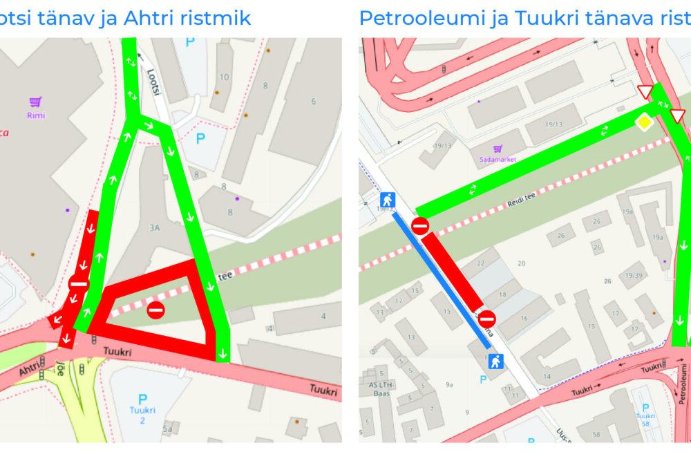 Reidi tee ehitus toob liiklusmuudatused Reisisadama ja Russalka juures