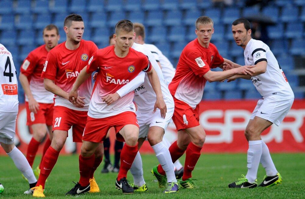 Jalgpall Narva Trans vs Tammeka Tartu 020615