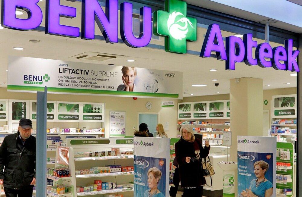 BENU apteek Postimajas. Foto illustratiivne